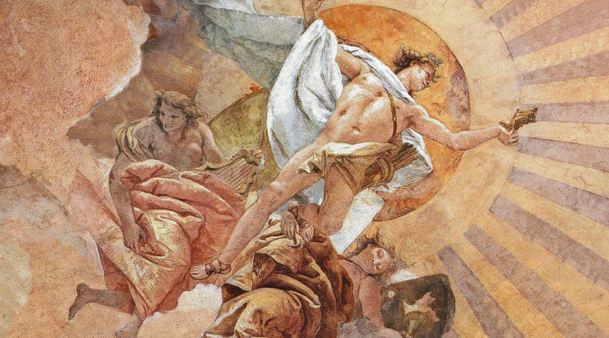 Аполлон, фрагмент фрески Джованни Батиста